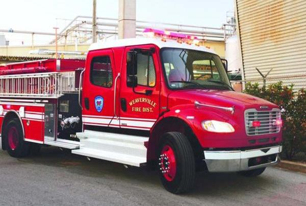 a modern fire engine